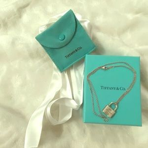 Tiffany & Co. Silver .925 Padlock Necklace